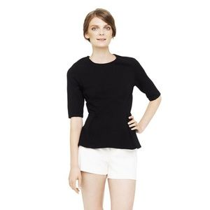 Club Monaco Black Peplum Top